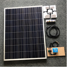 Complete Solar Kit 175 watt solar panel with Blue 15A MPPT charger