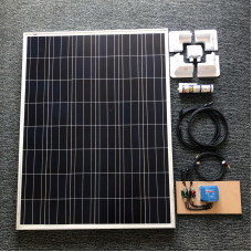 Complete Solar Kit 115 watt solar panel with Blue 10A MPPT charger
