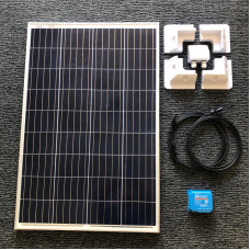 DIY Solar Kit 115 watt solar panel with Blue 10A MPPT charger